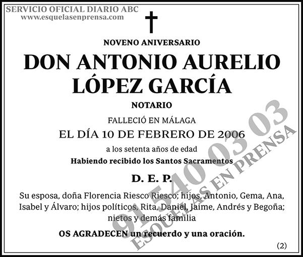 Antonio Aurelio López García